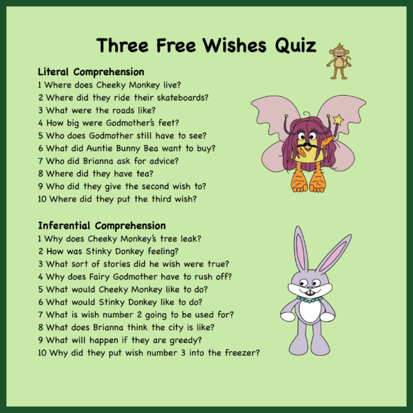 Three Free Wishes Reading Comprehension Quiz