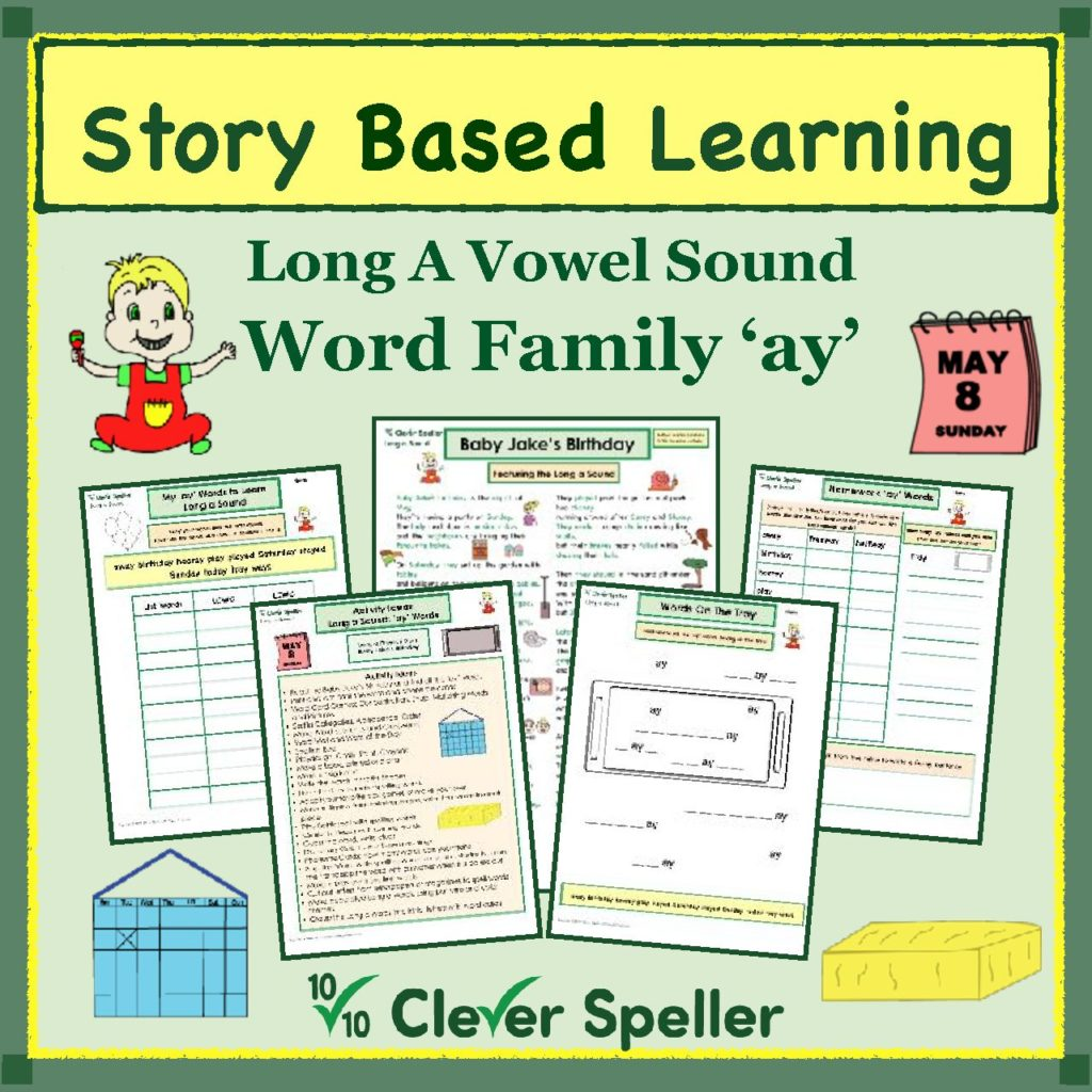 Long a Spelling Bundle Word Family 'ay' cover