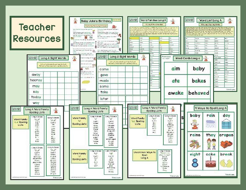 Long A Literacy Centre Teacher Resources