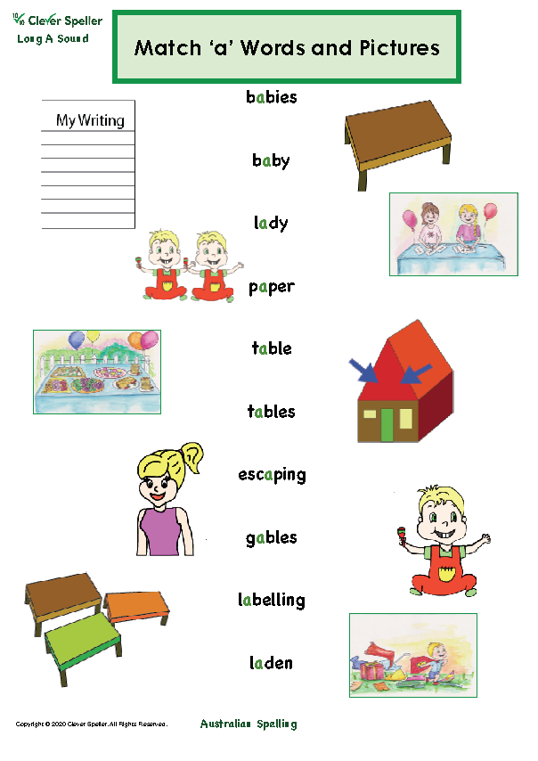 Long A Vowel Sound Matching Words and Pictures_Page_07