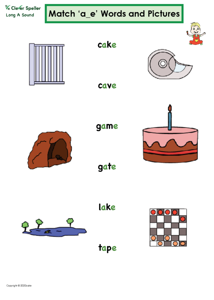 Long A Vowel Sound Matching Words and Pictures_Page_09