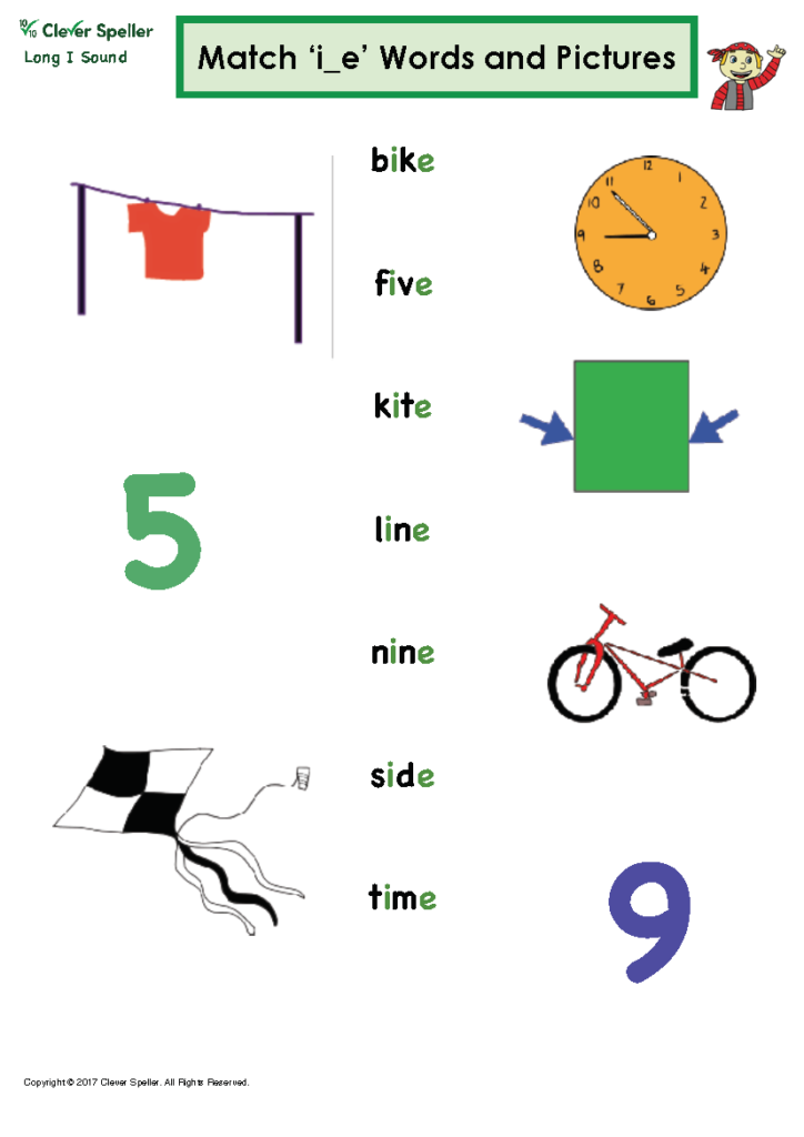Long I Vowel Sound Matching Words and Pictures_Page_07