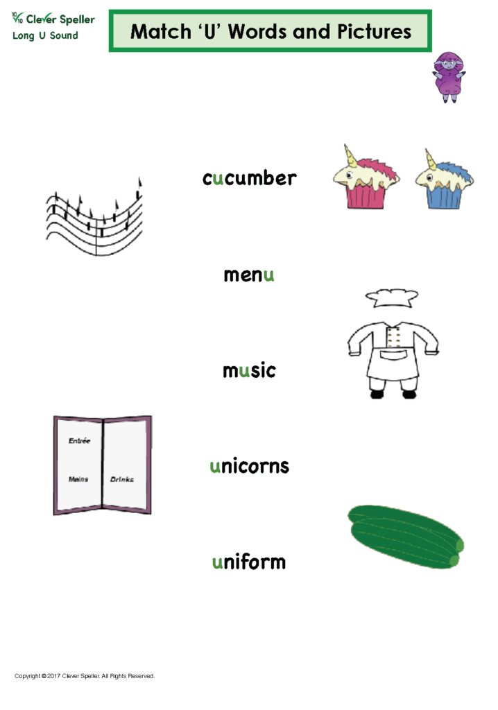 Long u Vowel Sound Matching Words and Pictures_Page_05
