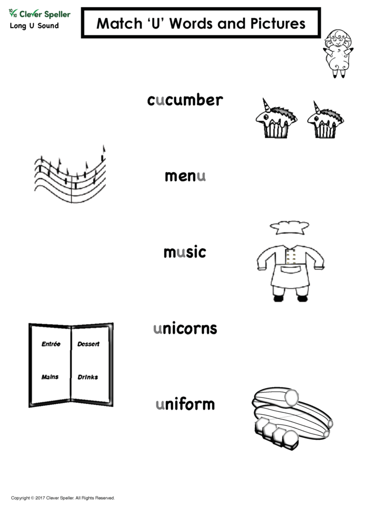 Long u Vowel Sound Matching Words and Pictures_Page_06