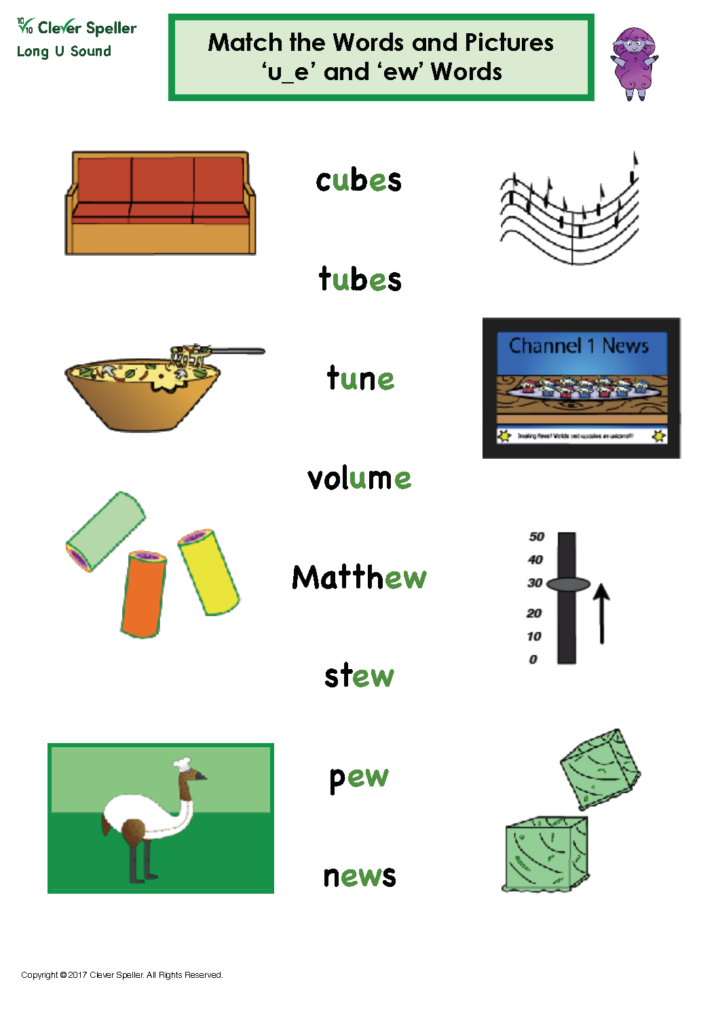 Long u Vowel Sound Matching Words and Pictures_Page_07