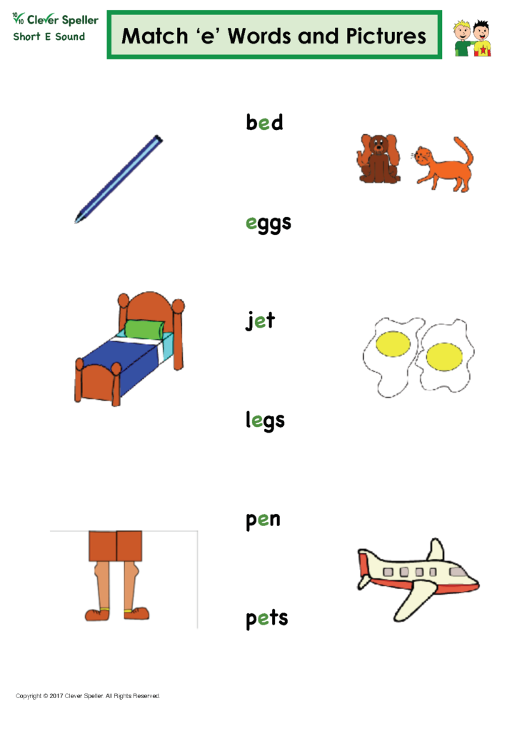 Short E Matching Words and Pictures Australian Spelling_Page_05