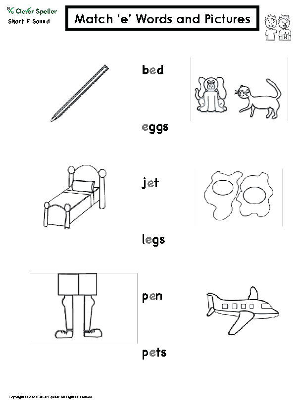 Short E Matching Words and Pictures Australian Spelling_Page_06