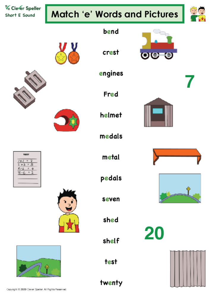 Short E Matching Words and Pictures Australian Spelling_Page_07