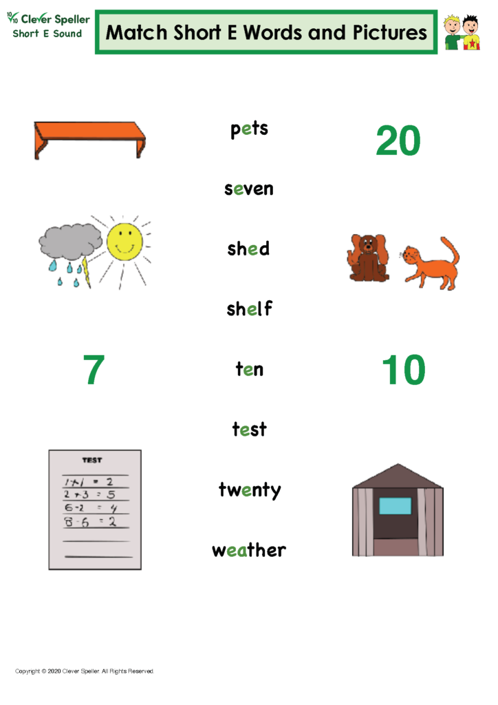 Short E Matching Words and Pictures Australian Spelling_Page_09