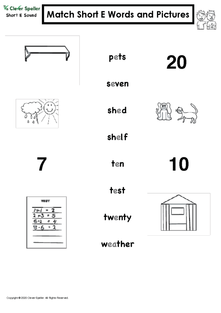 Short E Matching Words and Pictures Australian Spelling_Page_10