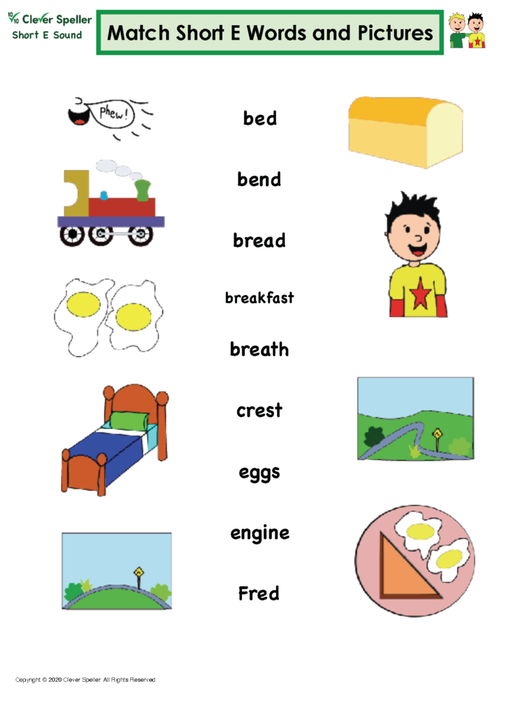 Short E Matching Words and Pictures Australian Spelling_Page_11