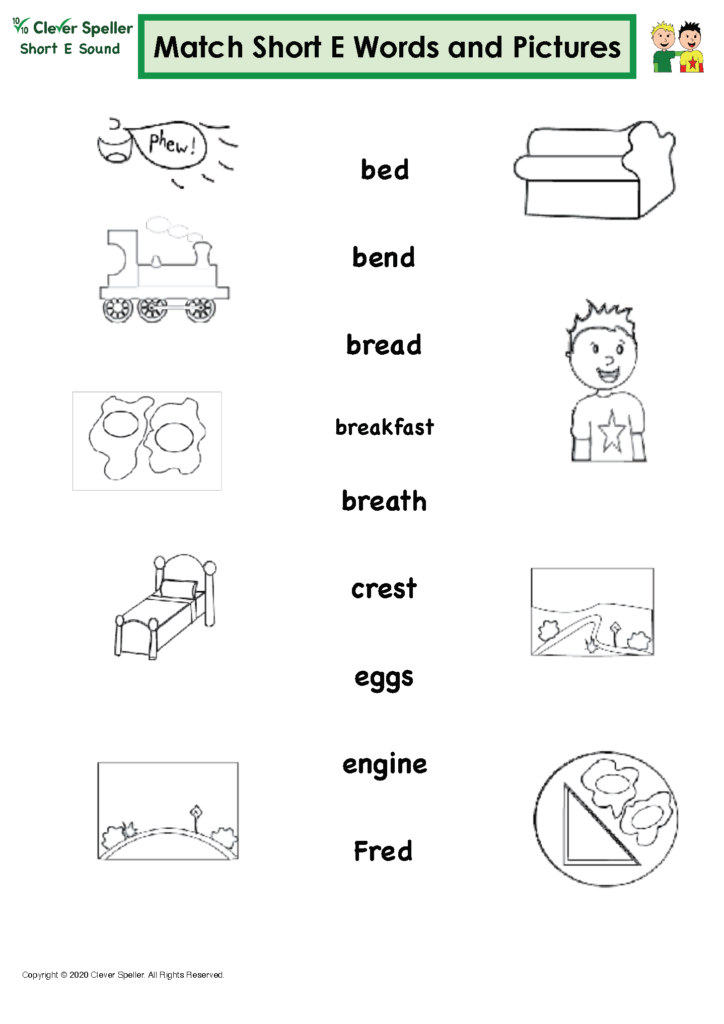 Short E Matching Words and Pictures Australian Spelling_Page_12