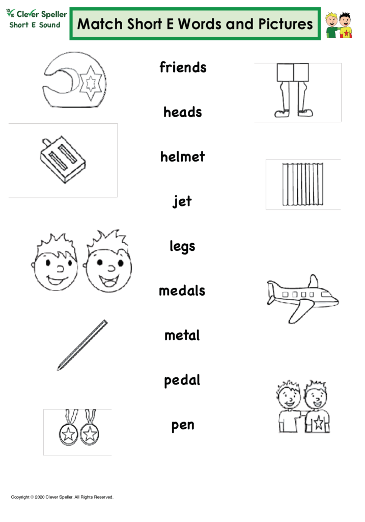 Short E Matching Words and Pictures Australian Spelling_Page_14