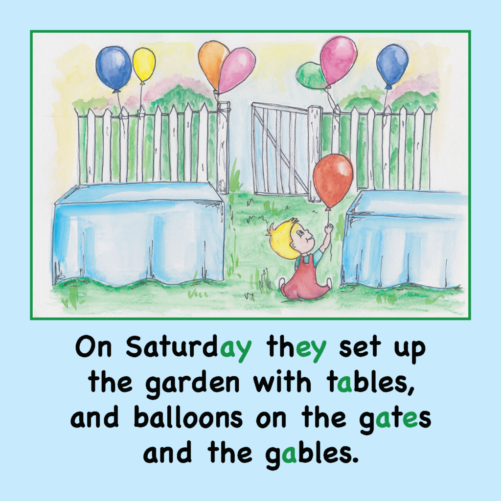 Baby Jake's Birthday Long A Phonics Story US Spelling_Page_08
