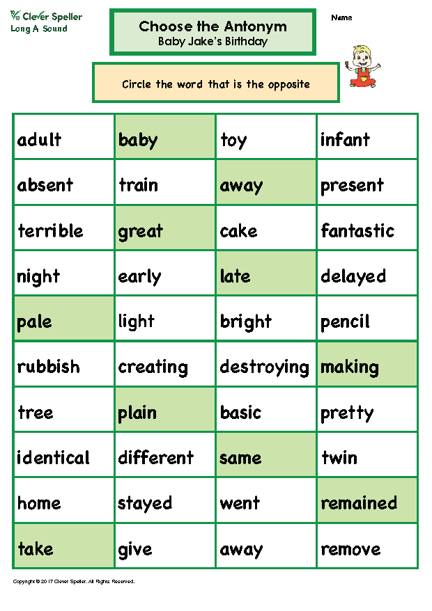 Long A Antonyms and Synonyms_Page_08