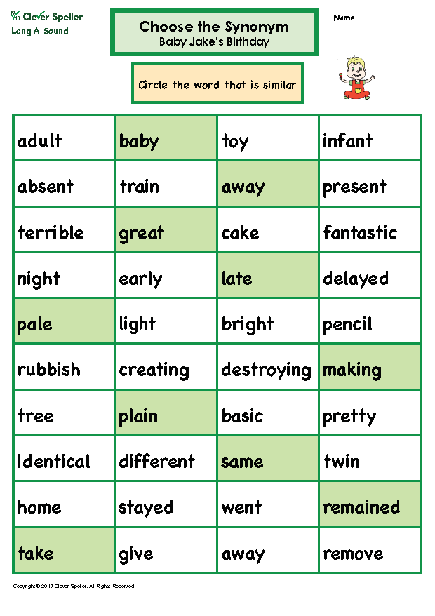 Long A Antonyms and Synonyms_Page_10