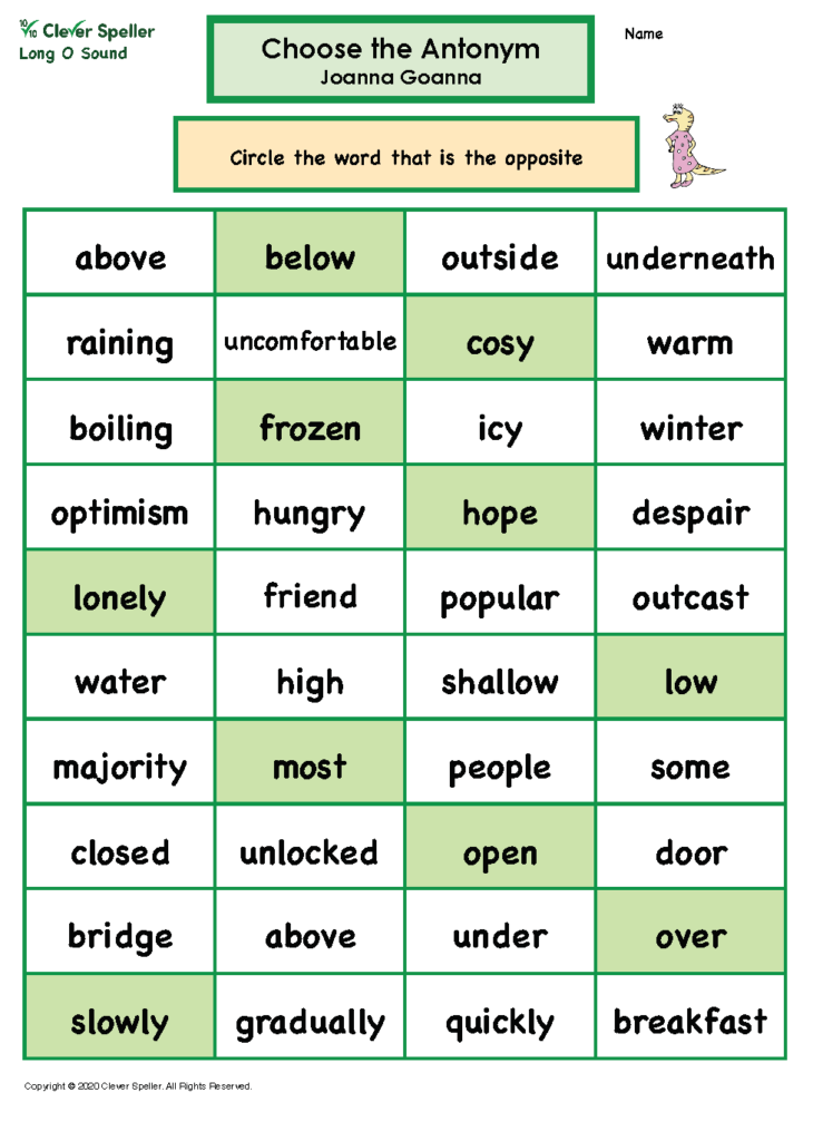 Long O Antonyms and Synonyms_Page_06