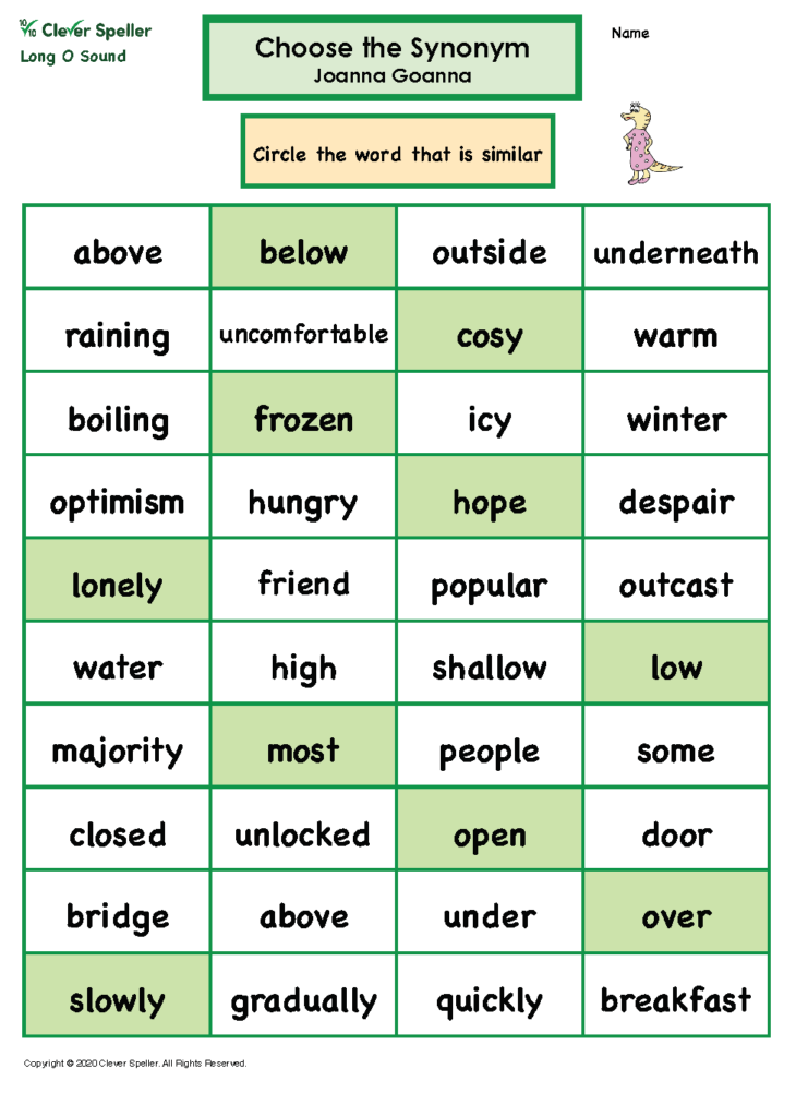 Long O Antonyms and Synonyms_Page_08