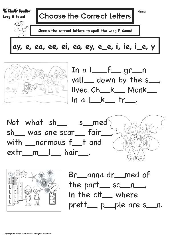 Long E Story Based Spelling Activities for Ages 4-10_Page_14