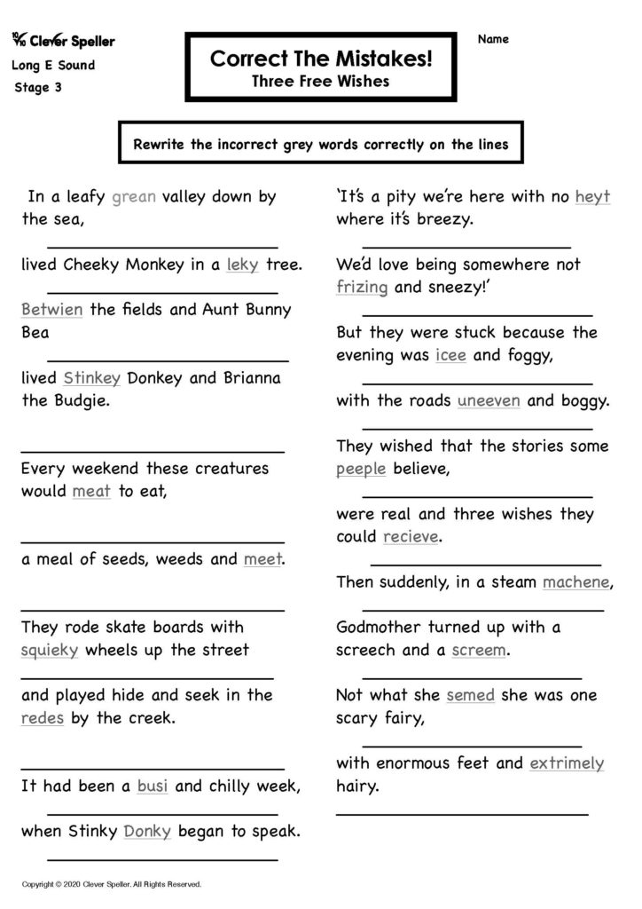 Long E Story Based Spelling Activities for Ages 4-10_Page_23