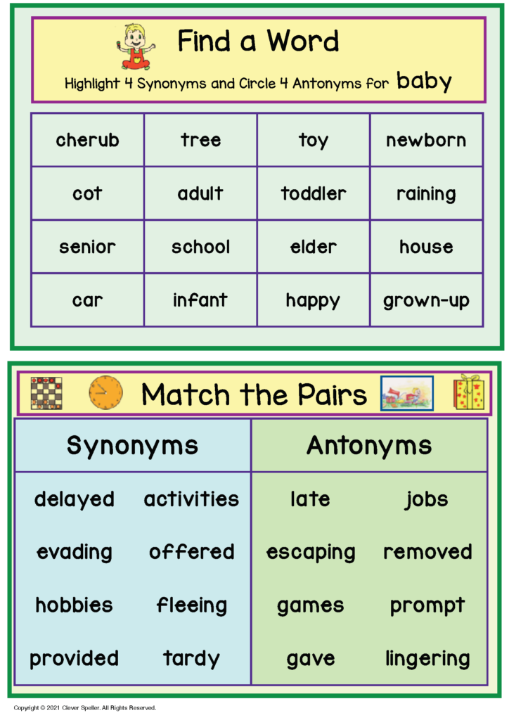 Long A Synonyms and Antonyms Freebie Sample_Page_6